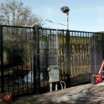 Large rolling commercial driveway gate